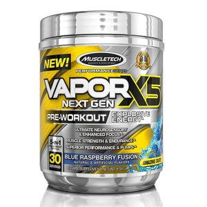 MUSCLETECH VAPORX5 NEXT GEN, 30 SERVING, BLUE RASPBERRY FUSION