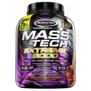 MUSCLETECH MASS TECH EXTREME 2000, TRIPLE CHOCOLATE BROWNIE, 7 LBS 1