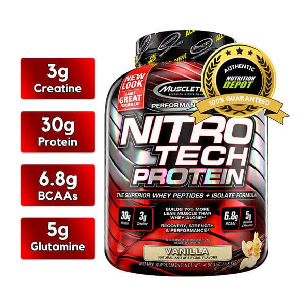 Nitro Tech Protein Vanila 4LBS