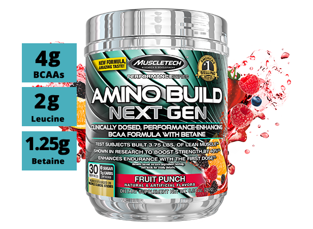 MUSCLETECH AMINO BUILD NEXT GEN, WATERMELON, 30 SERVING 2