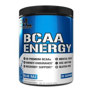 EVL BCAA ENERGY, BLUE RAZ, 30 SERVING