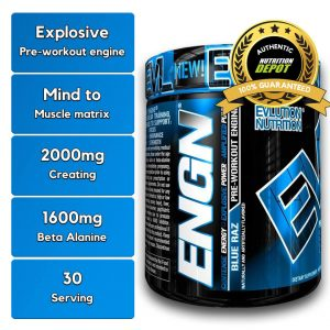 EVL ENGN, BLUE RAZ, 30 SERVING nutritional information