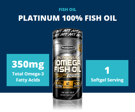 MUSCLETECH 100% OMEGA FISH OIL, 100 CT 1