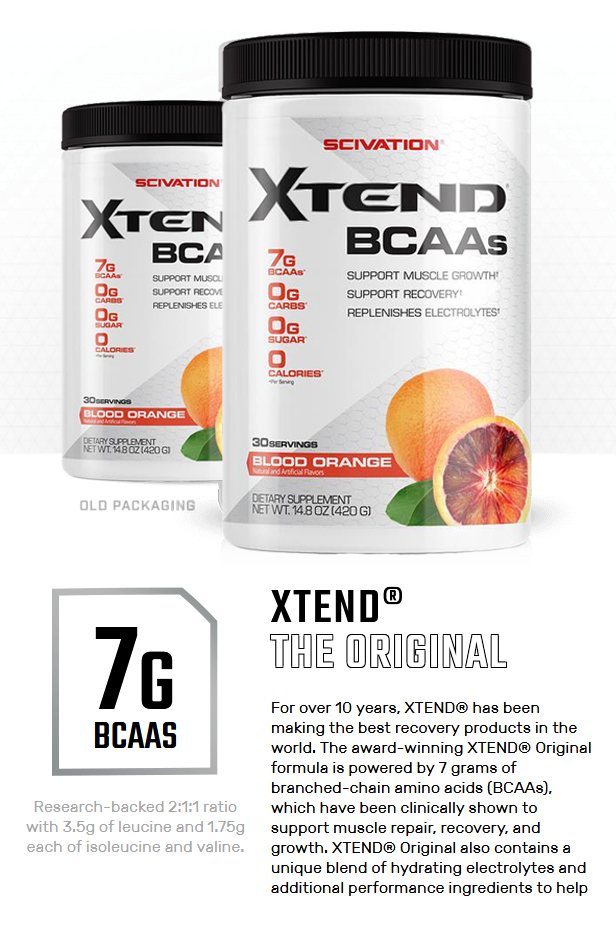 XTEND BCAA, BLOOD ORANGE, 30 SERVING 1