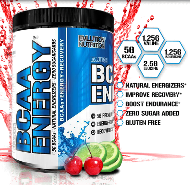 EVL BCAA ENERGY, FRUIT PUNCH, 65 SERVING 2