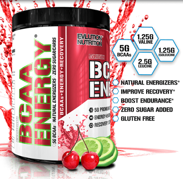 EVL BCAA ENERGY, CHERRY LIMEADE, 30 SERVING 2