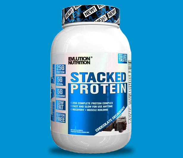 EVL STACKED PROTEIN, CHOCOLATE DECADENCE, 2 LBS 10
