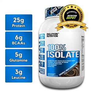 EVL 100% ISOLATE, DOUBLE RICH CHOCOLATE, 2 LBS nutritional information