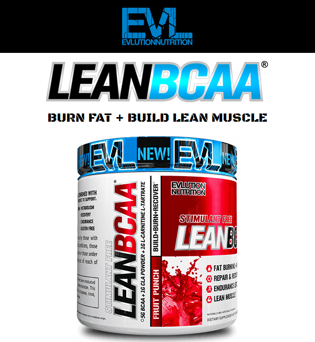 EVL BCAA LEAN, FRUIT PUNCH, 30 SERVINGS