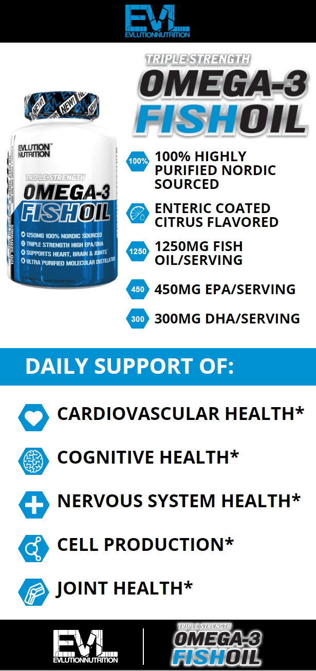 EVL FISH OIL, 120 SERVINGS PRODUCT DETAILS