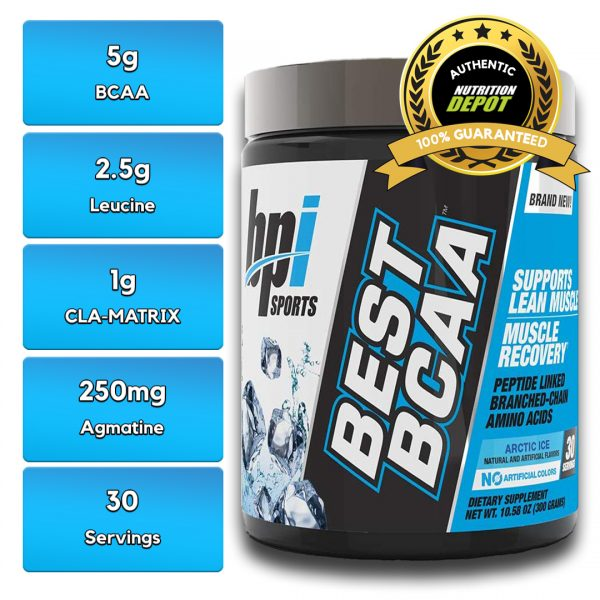 BEST BCAA, COLOUR ARCTIC ICE, 30 SERVING nutritional information