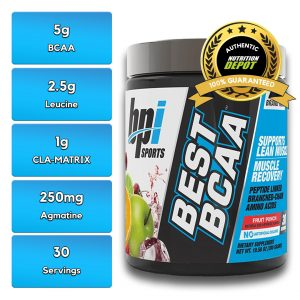 BEST BCAA, FRUIT PUNCH, 30 SERVING nutritional information