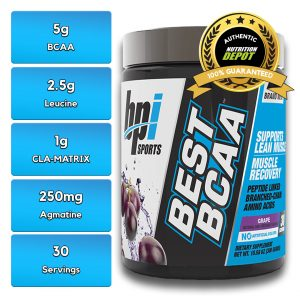 BEST BCAA, GRAPE, 30 SERVING nutritional information