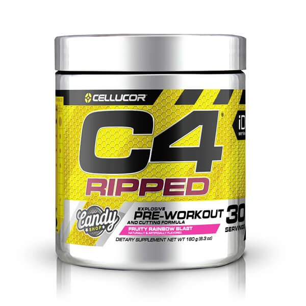 CELLUCOR, C4 RIPPED FRUITY RAINBOW BLAST, 30 SERVING