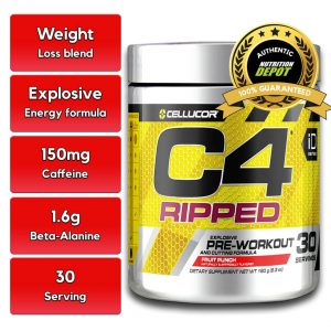 CELLUCOR, C4 RIPPED TROPICAL PUNCH, 30 SERVING nutritional information