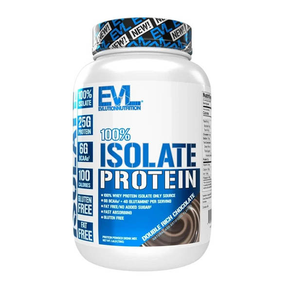 EVL 100% ISOLATE, DOUBLE RICH CHOCOLATE, 1.6 LBS