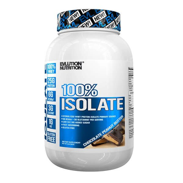 EVL 100% ISOLATE, CHOCOLATE PEANUT BUTTER, 2 LBS