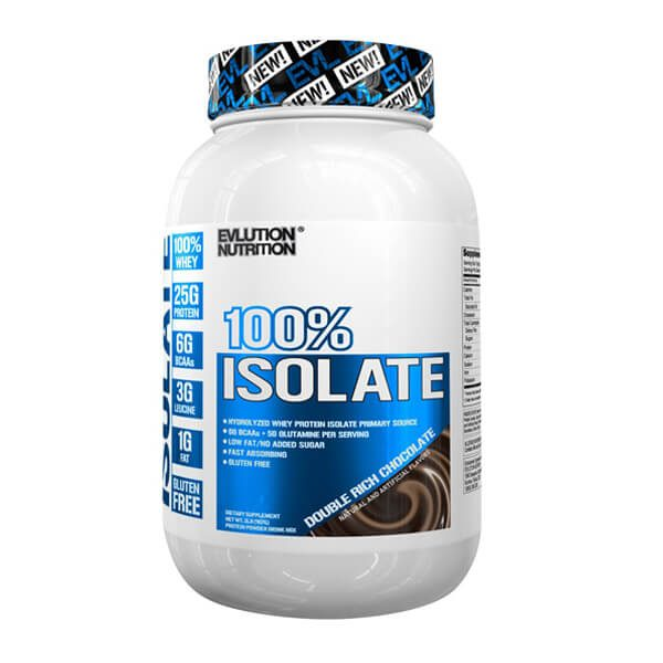 EVL 100% ISOLATE, DOUBLE RICH CHOCOLATE, 2 LBS