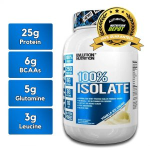 EVL 100% ISOLATE, VANILLA ICE CREAM, 2 LBS nutritional information
