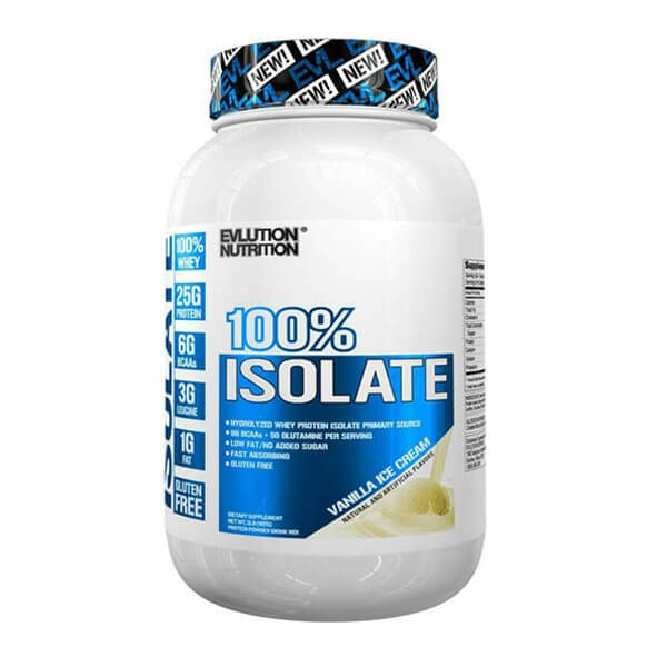 EVL 100% ISOLATE, VANILLA ICE CREAM, 2 LBS