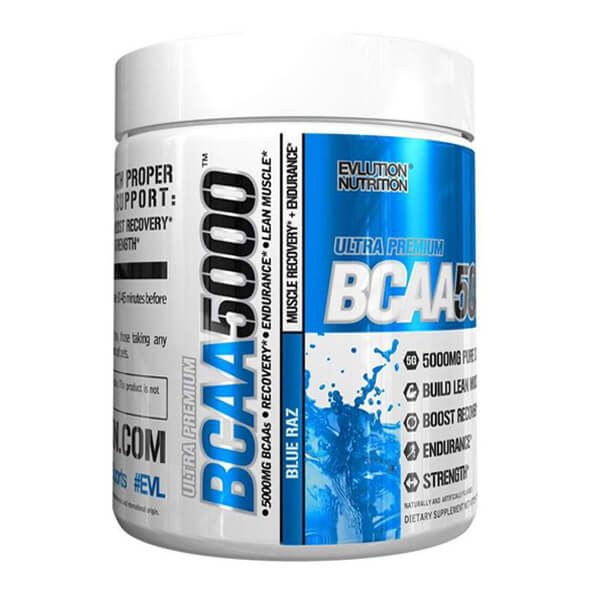 EVL BCAA 5000, BLUE RAZZ, 90 SERVINGS