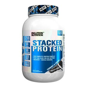 EVL STACKED PROTEIN, COOKIES AND CREAM, 2 LBS