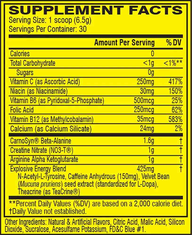 C4 NUTRITION INFO