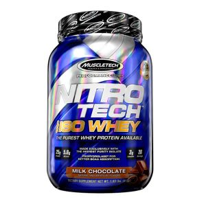 MUSCLETECH NITROTECH 100% ISO WHEY, MILK CHOCOLATE, 28 SERVINGS