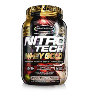 MUSCLETECH NITROTECH 100% WHEY GOLD, COOKIES AND CREAM, 2.2 LBS