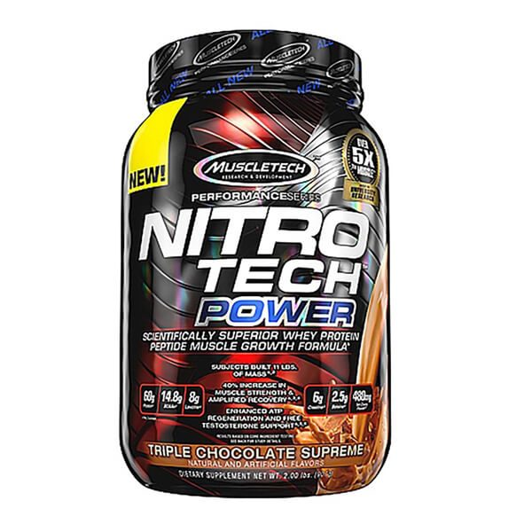 MUSCLETECH NITROTECH POWER, TRIPLE CHOCOLATE SUPREME, 2 LBS