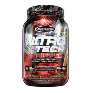 MUSCLETECH NITROTECH RIPPED, CHOCOLATE, 2 LBS