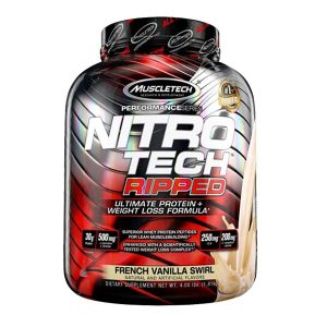 MUSCLETECH NITROTECH RIPPED, FRENCH VANILLA SWIRL, 4 LBS (1)