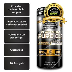 MUSCLETECH PLATINUM 100% CLA, 90 SERVINGS nutritional information