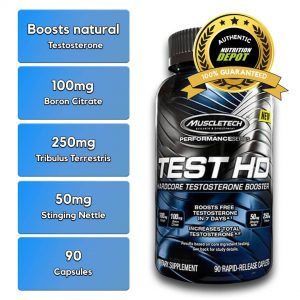 MUSCLETECH TEST HD, 90 CT nutritional information