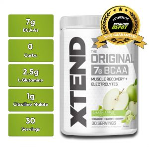 XTEND BCAA, SMASH APPLE, 30 SERVING nutritional information