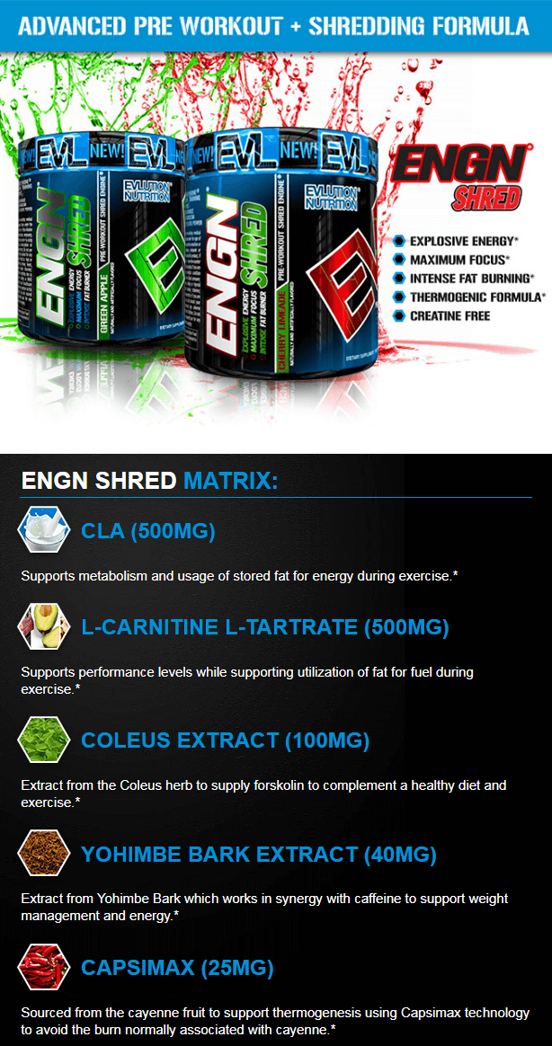 EVL ENGN SHRED, CHERRY LIMEADE, 30 SERVINGS PRODUCT DETAILS