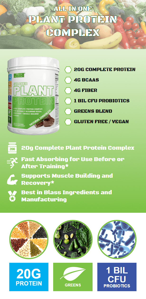 EVL STACKED PLANT PROTEIN, NATURAL CHOCOLATE, 1.5 LBS PRODUCT DETAILS