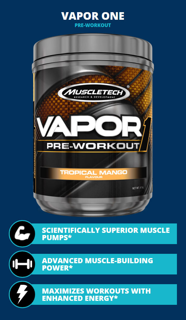 MUSCLETECH VAPOR ONE, TROPICAL MANGO, 25 SERVINGS, LIMITED EDITION ...