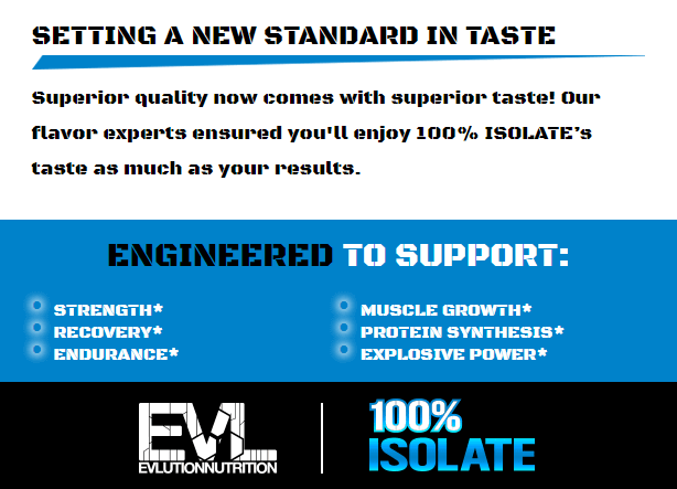 EVL 100% ISOLATE, CHOCOLATE DECADENCE, 4 LBS PRODUCT DETAILS