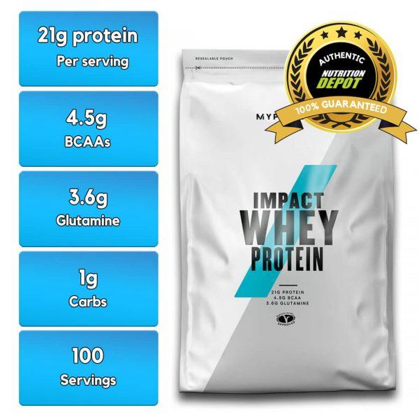 MYPROTEIN IMPACT WHEY PROTEIN, 2.5 KG nutritional information