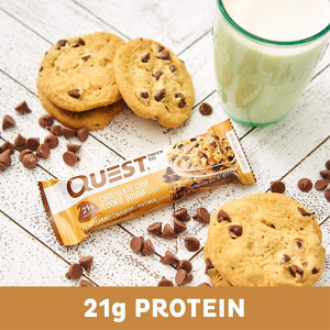 QUEST BAR, CHOCOLATE CHIP COOKIE DOUGH