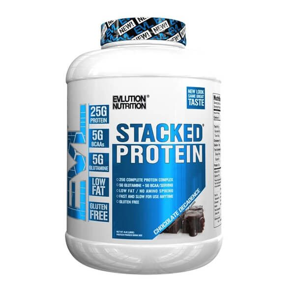 EVL STACKED PROTEIN, CHOCOLATE DECADENCE, 4 LBS