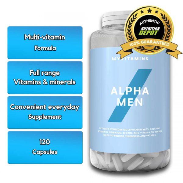 MYPROTEIN ALPHA MEN MULTIVITAMIN,120 TABLETS nutritional information