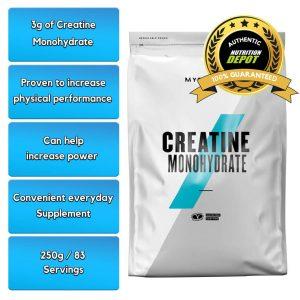 MYPROTEIN CREATINE MONOHYDRATE, 250g nutritional information