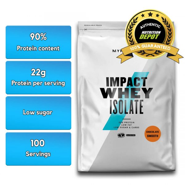 MYPROTEIN IMPACT WHEY PROTEIN ISOLATE, CHOCOLATE, 100 SERVING nutritional information