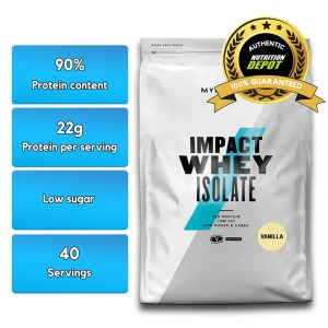 MYPROTEIN IMPACT WHEY PROTEIN ISOLATE, VANILLA, 40 SERVING nutritional information