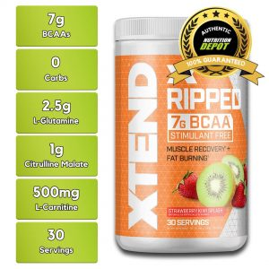 XTEND RIPPED BCAA, STRAWBERRY KIWI, 30 SERVING nutritional information