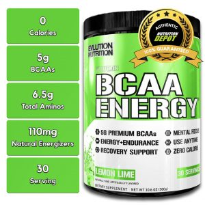 EVL BCAA ENERGY, LEMON LIME, 30 SERVINGS nutrition information