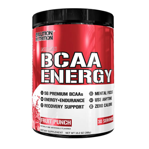 EVL BCAA ENERGY, FRUIT PUNCH, 30 SERVINGS