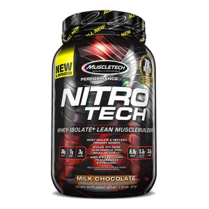 MUSCLETECH NITRO TECH PROTEIN, MILK CHOCOLATE, 2 LBS